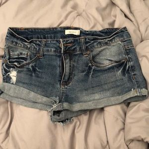 Jean shorts low rise